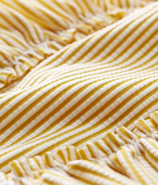Maillot de bain 1 pièce bébé fille rayé jaune Bamboo / blanc Marshmallow