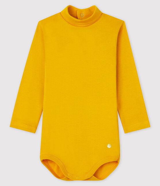 Body manches longues col roulé bébé jaune Boudor