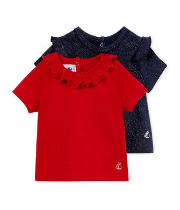 Tee-shirt manches courtes bébé fille lot .