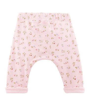 Pantalon bébé mixte rose Vienne / blanc Multico