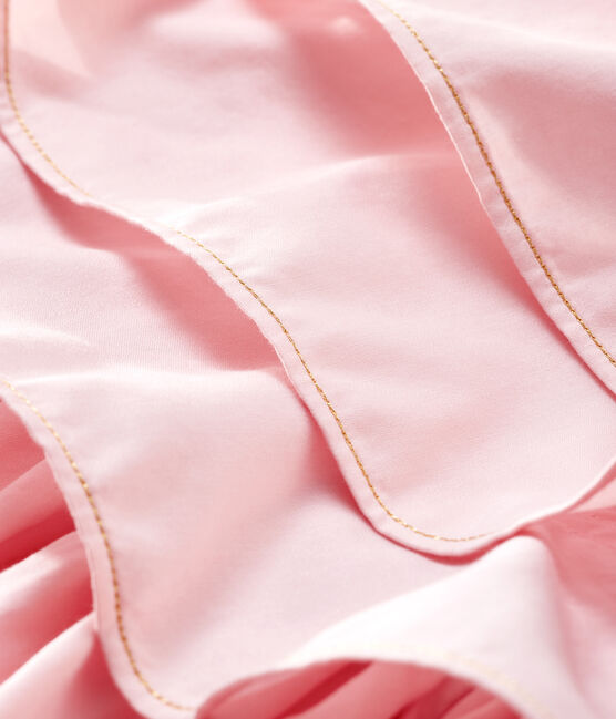 Robe en satin enfant fille rose Minois