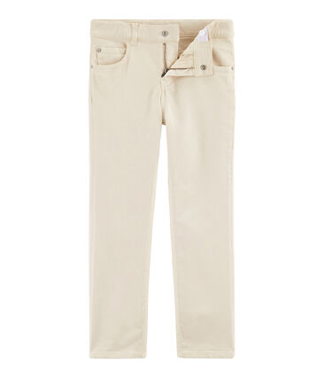 Pantalon enfant garçon blanc Feta