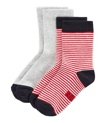 Lot de 2 paires de chaussettes enfant mixte lot .