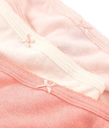 Trio de culottes petite fille en coton et lin