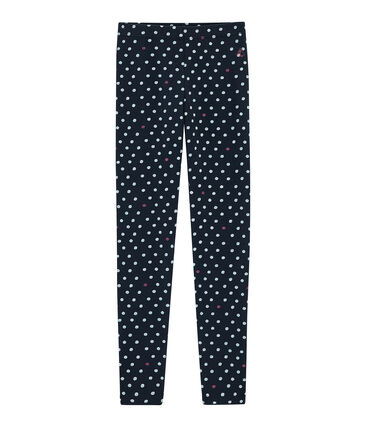 Legging enfant fille bleu Smoking / blanc Multico