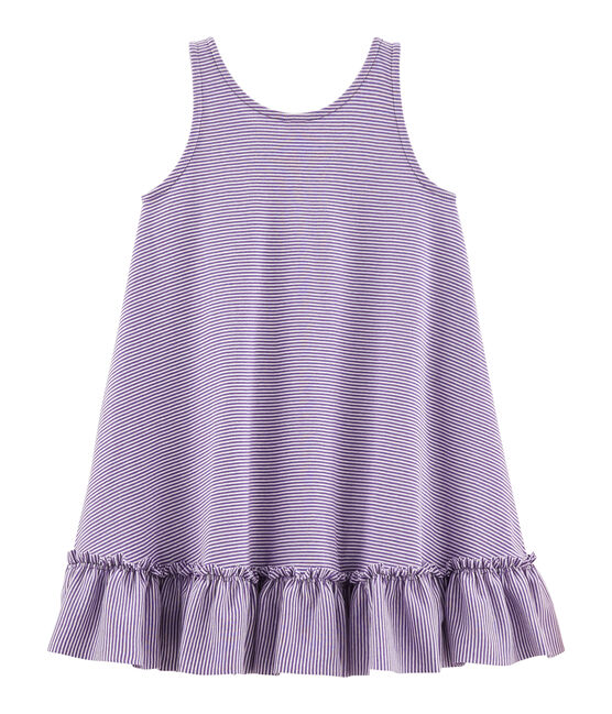 Robe enfant fille violet Real / blanc Marshmallow