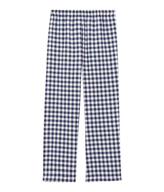 Pantalon de pyjama garçon blanc Lait / bleu Medieval