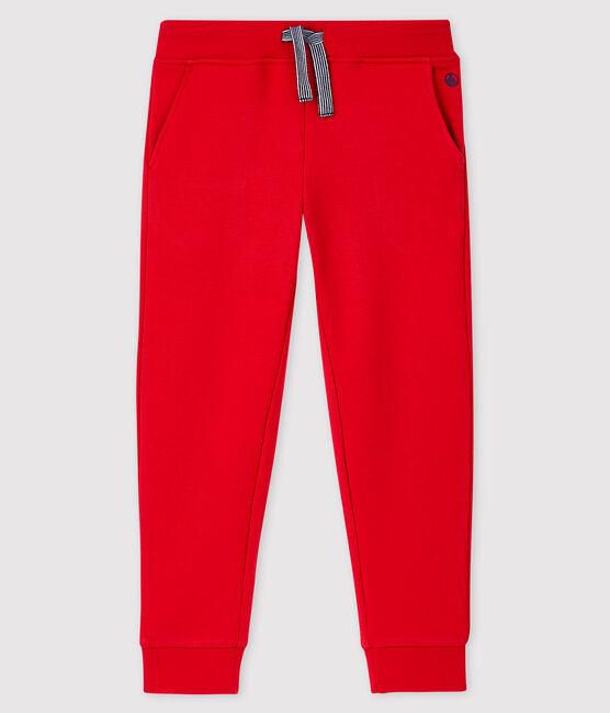 Pantalon en molleton enfant garçon rouge Terkuit