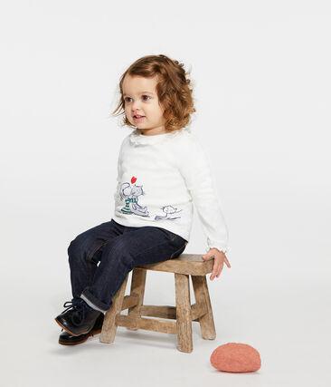 Blouse manches longues bébé fille blanc Marshmallow