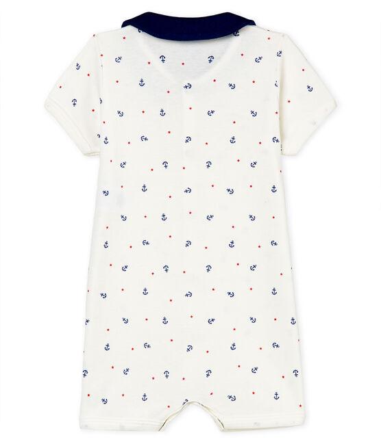 Combicourt bébé garçon en côte blanc Marshmallow / blanc Multico