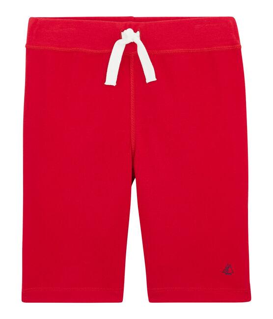 Bermuda enfant garçon rouge Peps