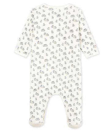 Bodyjama bébé garçon en velours blanc Marshmallow / blanc Multico Cn