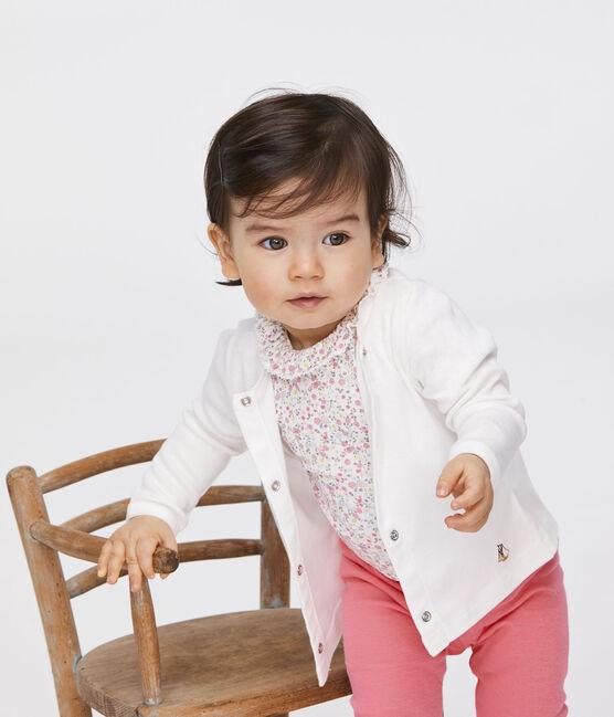 Cardigan léger bébé fille-garçon blanc Marshmallow