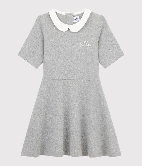 Robe manches courtes enfant fille gris Subway