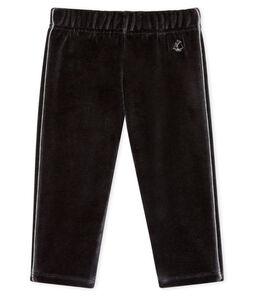Pantalon bébé garçon en maille velours noir Noir