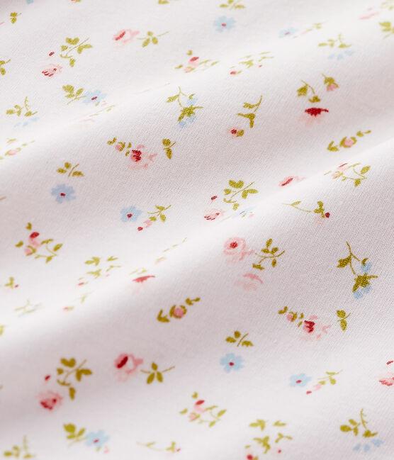 Chemise de nuit fille à imprimé petites fleurs rose Vienne / blanc Multico