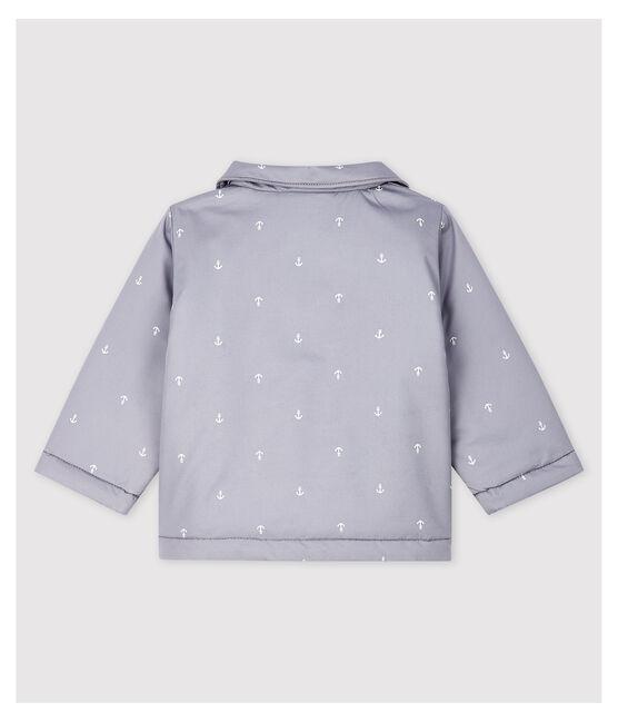 Veste cérémonie en serge craquante bébé garçon gris Concrete / blanc Marshmallow