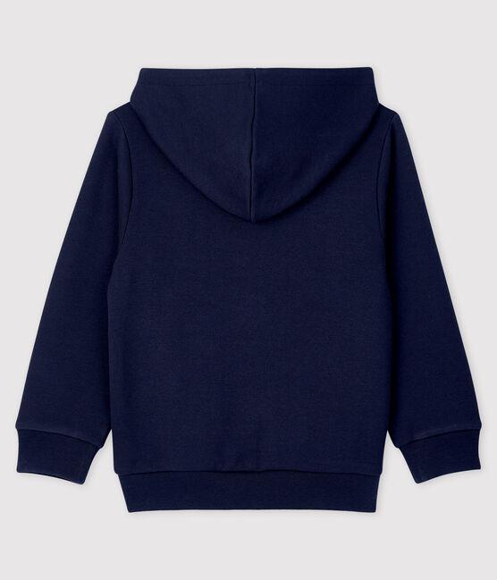 Sweatshirt à capuche en molleton enfant garçon bleu Smoking