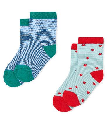Lot de 2 paires de chaussettes bébé garçon lot .