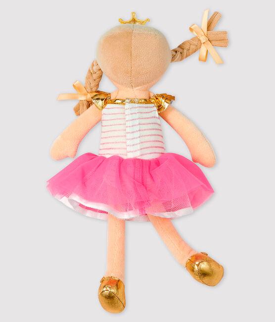 Poupée danseuse petite fille rose Fleur / blanc Multico