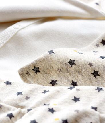 Ensemble trois pièces bébé garçon en laine et coton