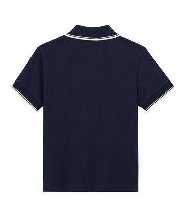 Polo enfant garcon bleu Smoking