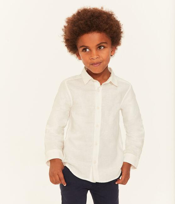 Chemise enfant garçon blanc Ecume