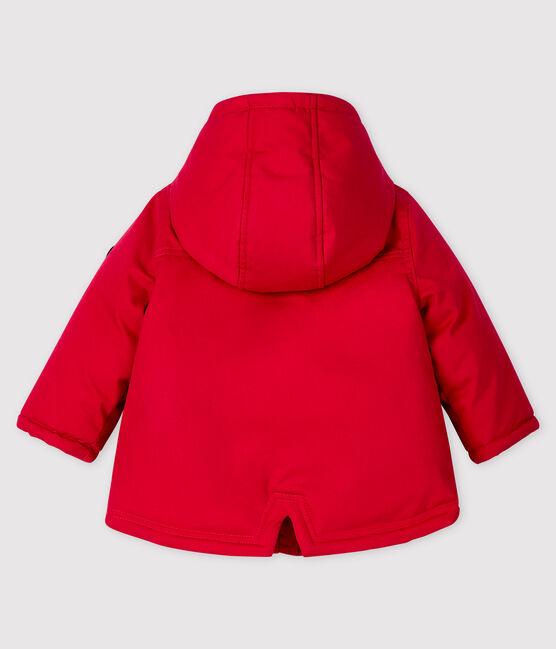 Parka mi-longue bébé garçon rouge Terkuit