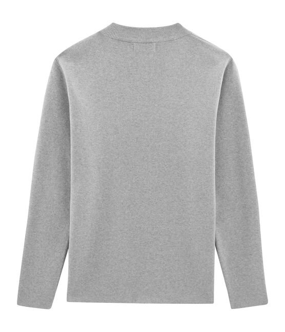 Pull marin en coton tricot côte 1x1. gris Subway