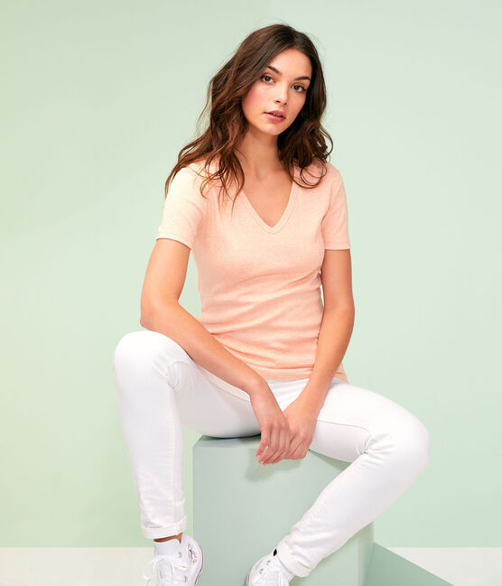 Tee shirt iconique femme rose Aster Chine