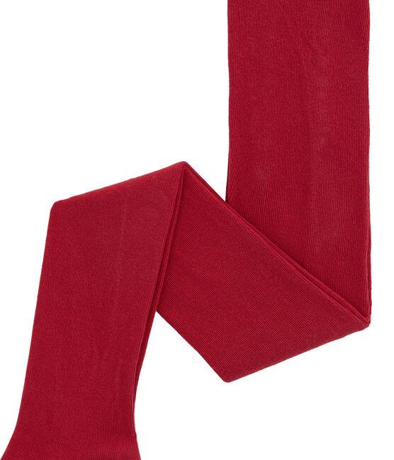 Collant fille en jersey rouge Terkuit