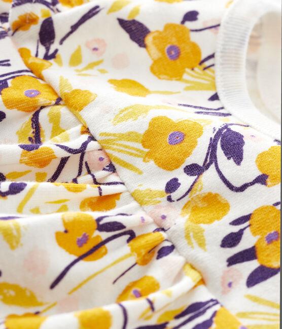 Blouse manches courtes bébé fille blanc Marshmallow / blanc Multico