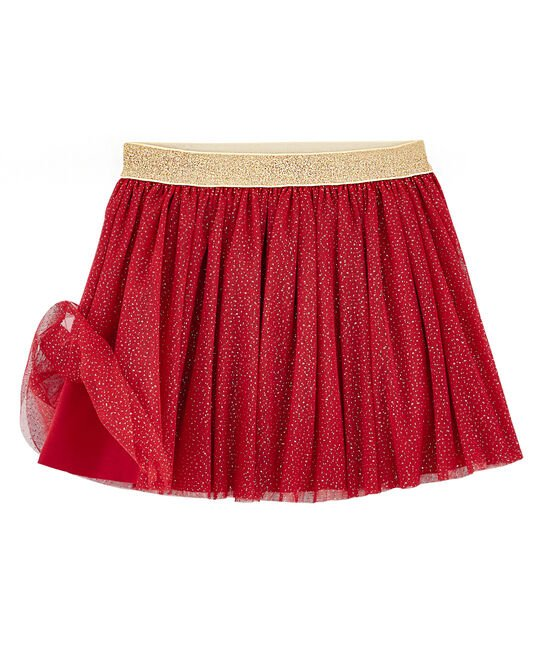 Jupe en tulle enfant fille rouge Terkuit / jaune Or
