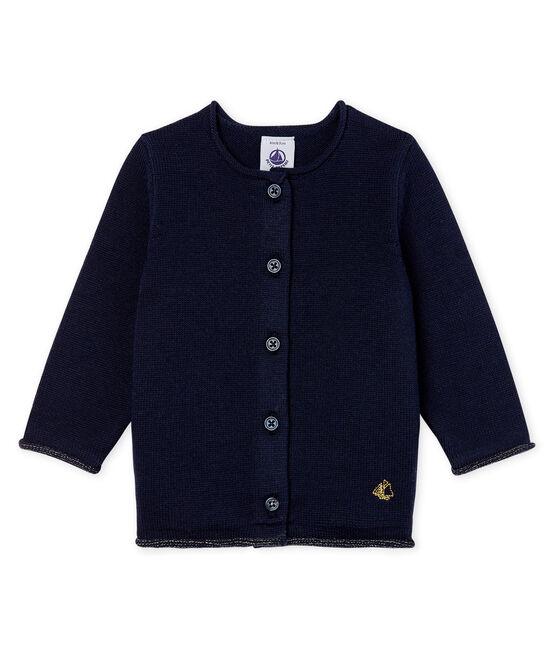 Cardigan essentiel bébé fille en tricot laine et coton SMOKING