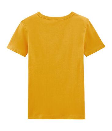 Tee shirt manches courtes iconique femme jaune Boudor