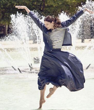 Veste esprit tailleur femme. Petit bateau x Marie-Agnès Gillot bleu Smoking