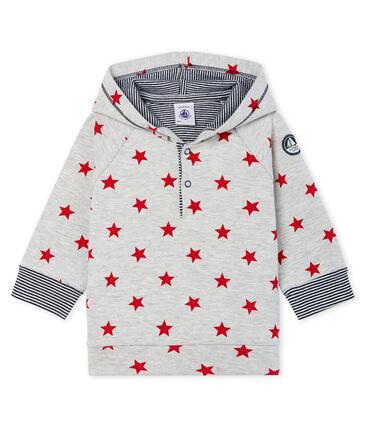 Sweatshirt à capuche bébé garçon en maille imprimée