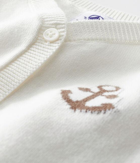 Cardigan bébé garçon blanc Marshmallow