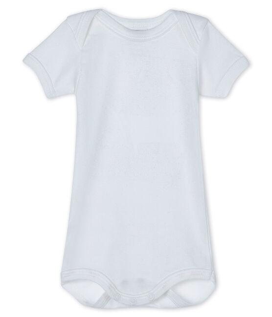 Body manches courtes bébé blanc Ecume