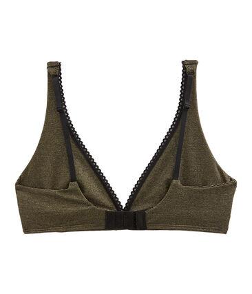 Soutien-gorge triangle femme noir Noir / jaune Or