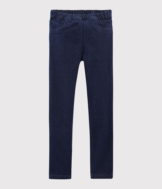Pantalon slim en denim enfant fille bleu Denim Bleu Fonce