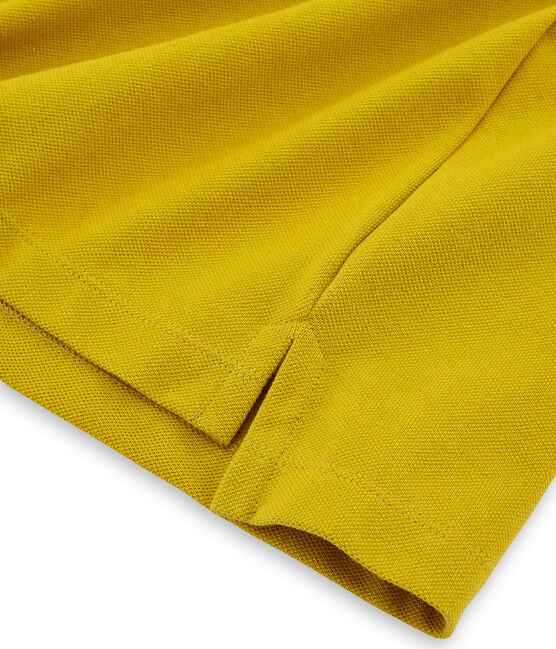 Polo manches courtes homme jaune Bamboo