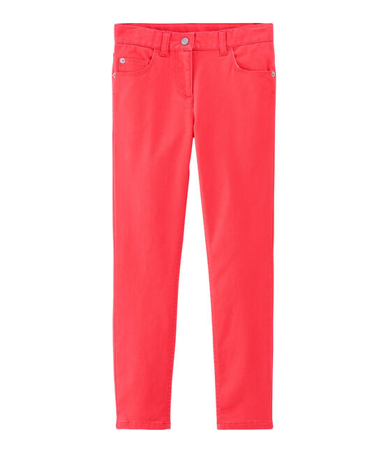 Pantalon enfant fille rose Groseiller
