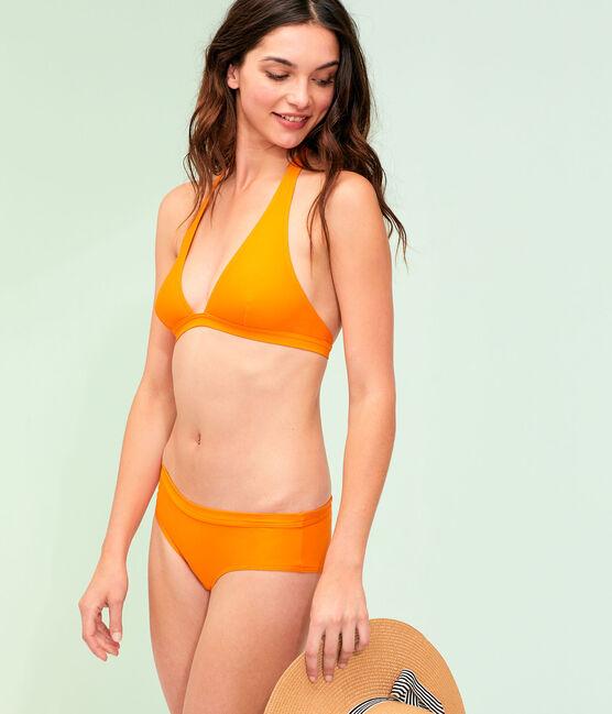 Maillot de bain 2 pièces écoresponsable orange Tiger