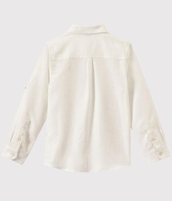 Chemise en popeline enfant garçon blanc Ecume