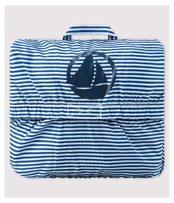 Coupe-vent en polyamide recyclé bébé fille/garçon bleu Surf / blanc Marshmallow