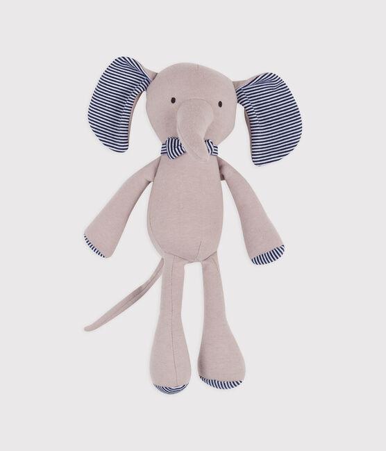 Doudou éléphant en côte gris Concrete