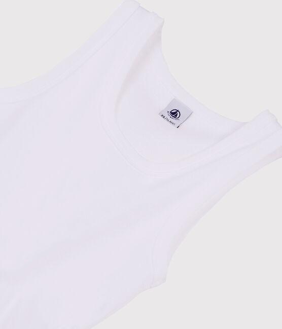 Débardeur iconique en coton Femme blanc Ecume