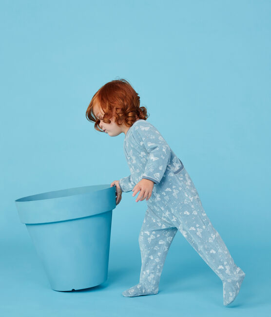 Dors bien bébé fille bleu Fontaine / blanc Marshmallow