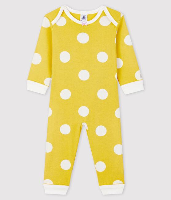 Dors-bien sans pression bébé en côte jaune Ble / blanc Ecume